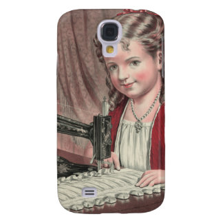 Child at sewing machine - 1872 (1) galaxy s4 case