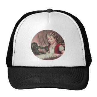 Child at sewing machine - 1872 1 trucker hat