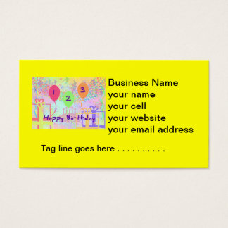 Child Birthday Three Years Old - Happy Birthday! Business Card