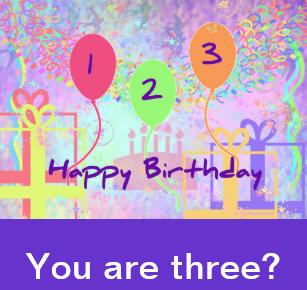 Child Birthday Three Years Old