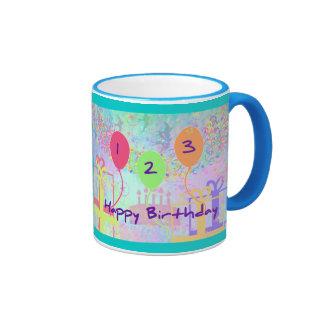 Child Birthday Three Years Old - Happy Birthday Coffee Mugs