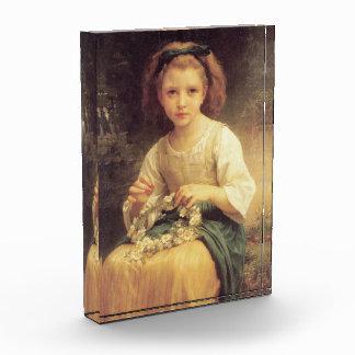 Child Braiding a Crown by W.A. Bouguereau Acrylic Award