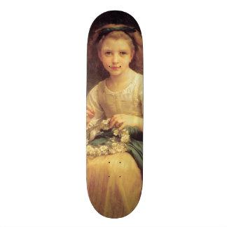 Child Braiding a Crown by W.A. Bouguereau Skateboard Deck