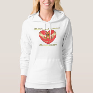 Child Cancer Aware Ladies Hoodie