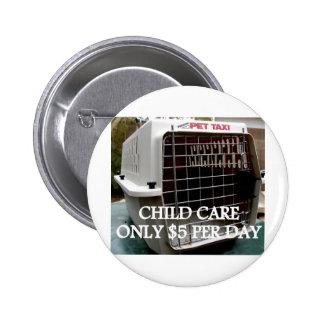 CHILD CARE 2 PINBACK BUTTON