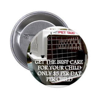 CHILD CARE 2 PINBACK BUTTONS