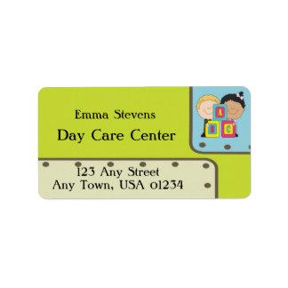 Child Care ABC Kids Address Labels