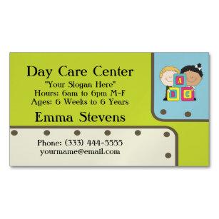 Care child business cards templates zazzle child care abc kids business card magnet colourmoves