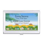 Child Care Baby Flowers Business Card Holder