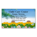 Child Care Baby Flowers Business Card Magnet