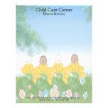 Child Care Baby Flowers Letterhead