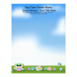 Child Care Baby Owl Letterhead