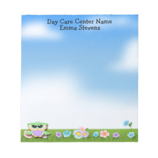 Child Care Baby Owl Notepad