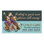 Child Care.Babysitting.Custom text/color Double-Sided Standard Business Cards (Pack Of 100)