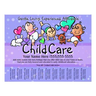 Child Care.Babysitting.Day Care.Custom text/color