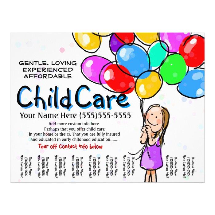Babysitting Day Care Child Care: Child Care. Babysitting. Day Care. Promo Flyer