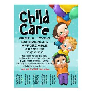 Child Care. Babysitting. Day Care. Tear sheet Flyer Design