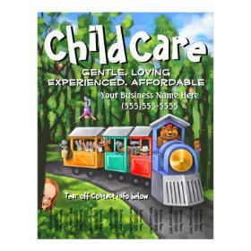 Child Care. Babysitting. Day Care. Tear sheet Full Color Flyer