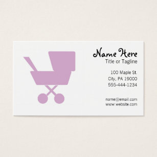 Nanny business cards templates zazzle child care babysitting nanny business card reheart Gallery