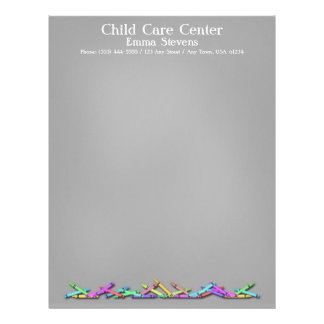 Child Care Chalkboard Crayons Letterhead