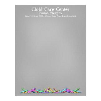 Child Care Chalkboard Crayons Letterhead