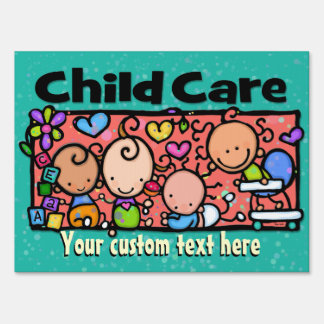 Child Care. Day Care. Advertising Customizable Signs
