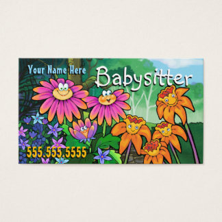 Child Care Day Care Babysitting Magic Garden Business Card