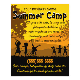 Child Care Day Care Babysitting Summer Camp 4x5 Flyer