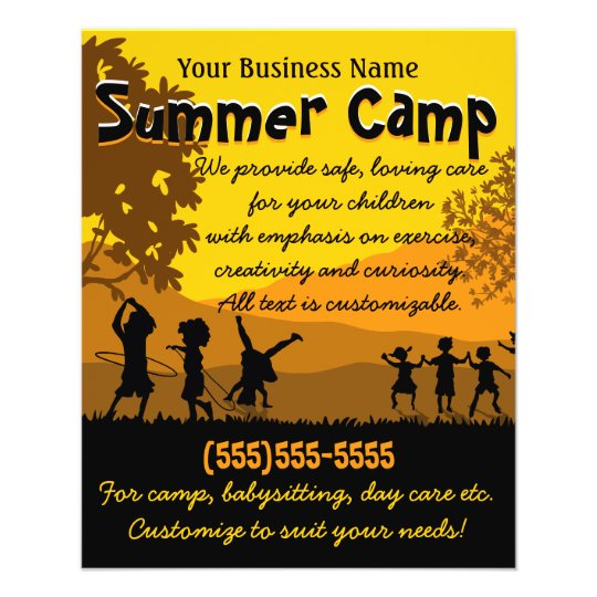 Child Care Day Care Babysitting Summer Camp X Flyer  ZazzleCom