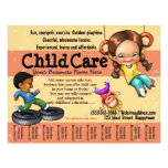 "Child Care. Day Care. Customizable template 8.5"" X 11"" Flyer"