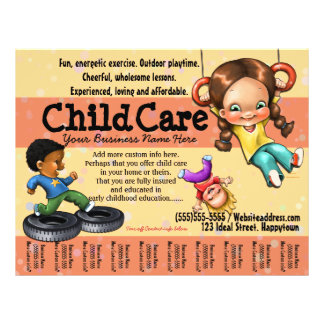 Child Care. Day Care. Customizable template Flyer