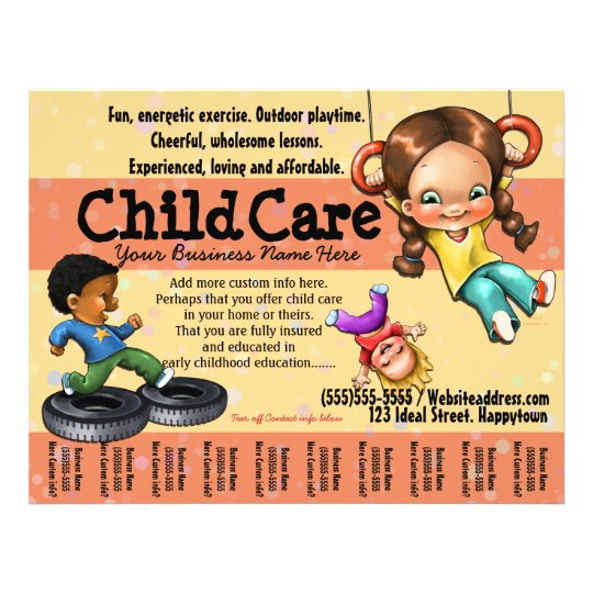 Child Care Day Care Customizable Template Flyer  Zazzle
