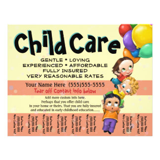 Child Care. Day Care. Tear sheet HORIZONTAL