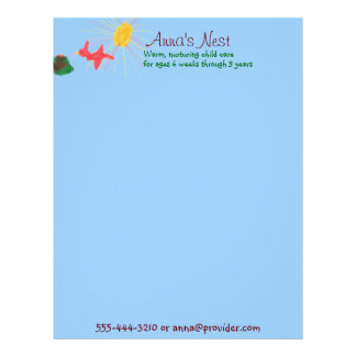 Child care letterhead