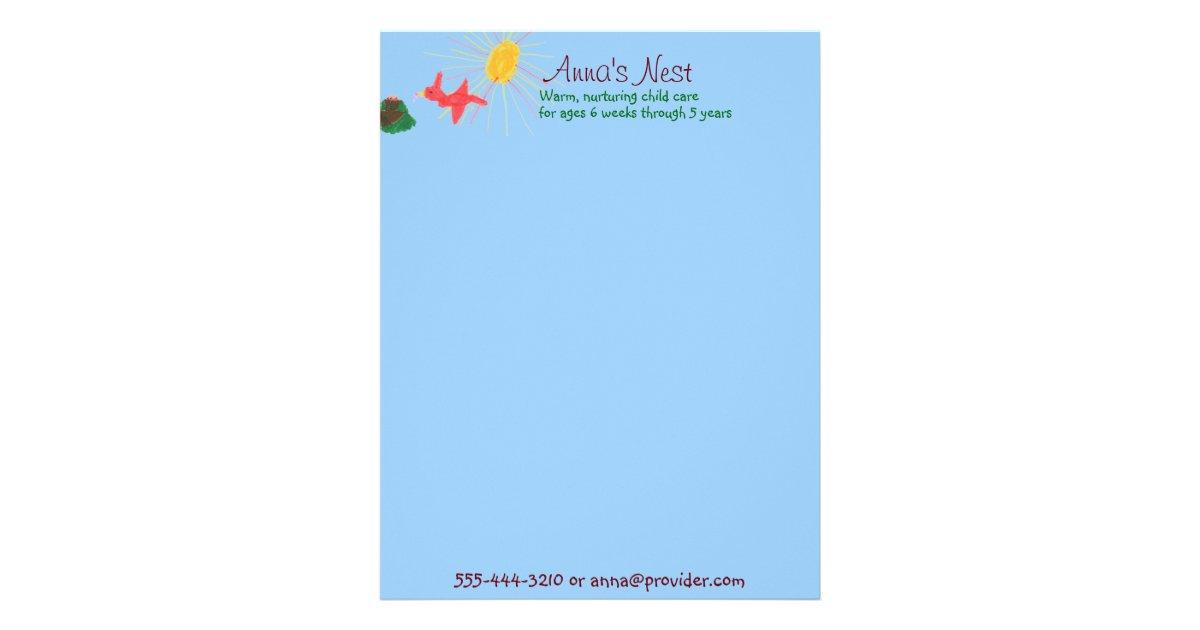 child care letterhead