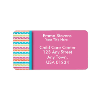 Child Care Pretty Lines and Dots Address Labels