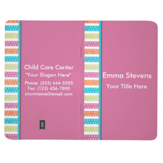 Child Care Pretty Lines and Dots Pocket Journal