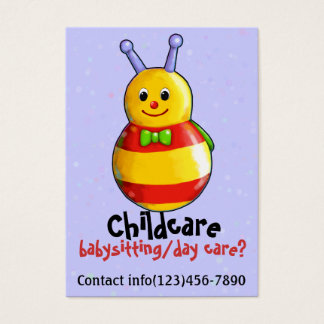 Child Care Service DayCare Babysitting Care Promo Business Card