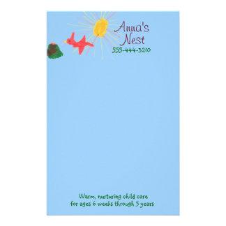 Child care stationery
