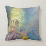 Child Creating with Color Throw Pillow