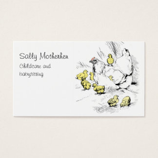 Child day care chicken and chicks business card