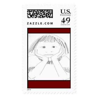 Child Deciding Stamps