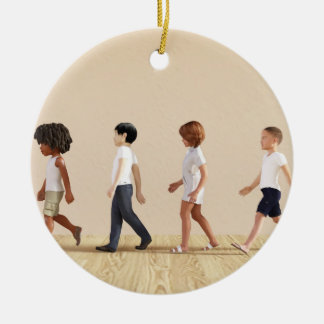 Child Development with Children Learning and Play Ceramic Ornament