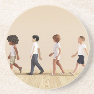 Child Development with Children Learning and Play Sandstone Coaster