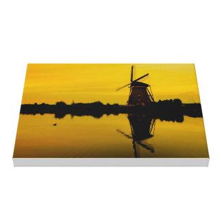 child dike, Windmill print canvas, the Netherlands