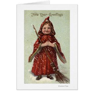Child Dressed in Red Cloak Card