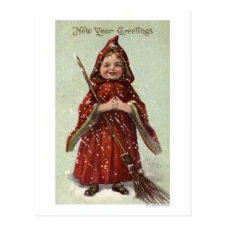 Child Dressed in Red Cloak Postcard