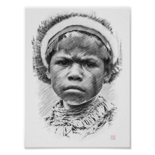Child - Eastern Highlands, Papua New Guinea Poster
