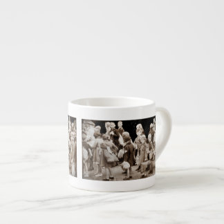 Child Evacuees with Suitcases Espresso Cup