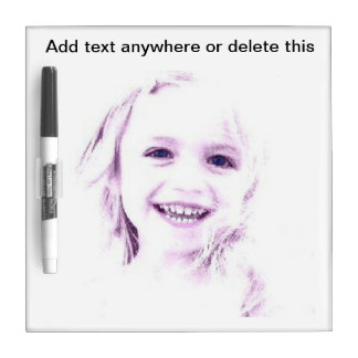 Child face girl Dry Erase Board
